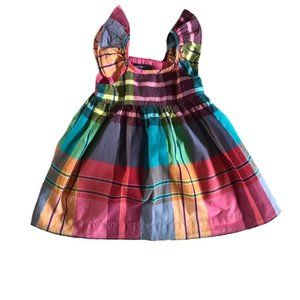 NWT Baby Gap Girl Pink Plaid Dress Size 12-18M